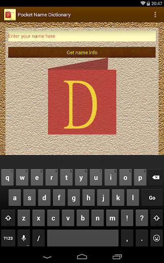 Pocket Name Dictionary