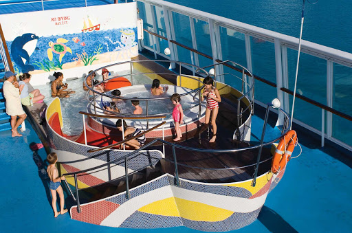 Norwegian-Sun-Kids-Pool - Kids will love the shallow pool, hot tub and fun activities  at the Splashes Kid's Pool on deck 12 of Norwegian Sun.