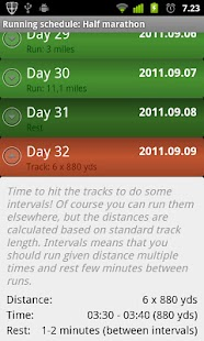 Running Schedule - screenshot thumbnail