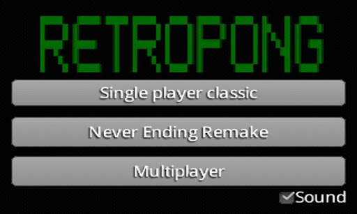 RetroPong 2players multiplayer