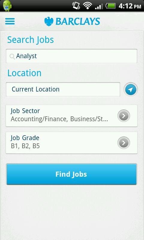 Barclays Jobs - screenshot