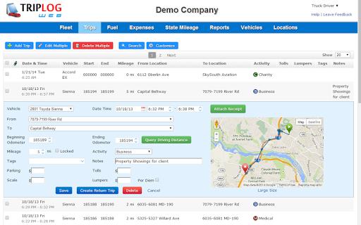 triplog automatic mileage log tracker for tax revenue download