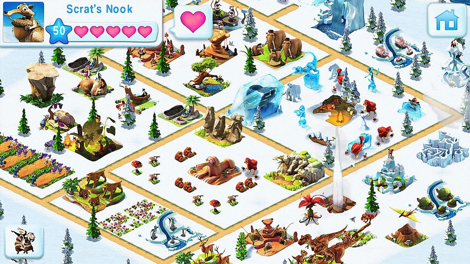 Ice age village google play 39 de android uygulamalar for Animals decoration games