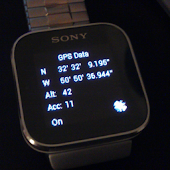 GPS Data for Sony SmartWatch
