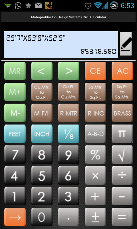 Edifice Calc- screenshot