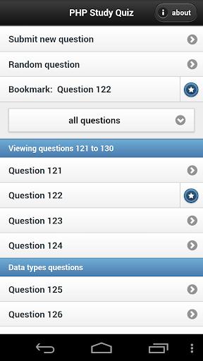PHP Study Quiz App