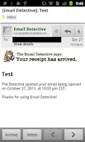 Screenshot of Email Detective