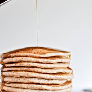 Whole Wheat Greek Yogurt Pancakes.