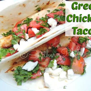 Greek Chicken Tacos.
