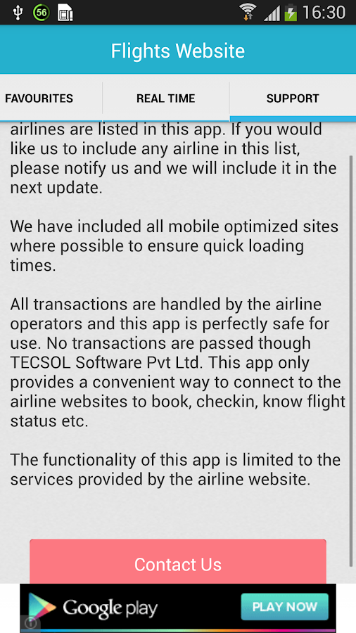 Flight Search - screenshot