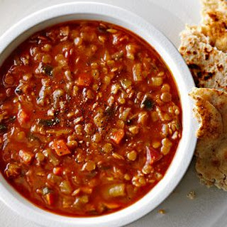 Red Chief Lentil and Melted Leek Soup
