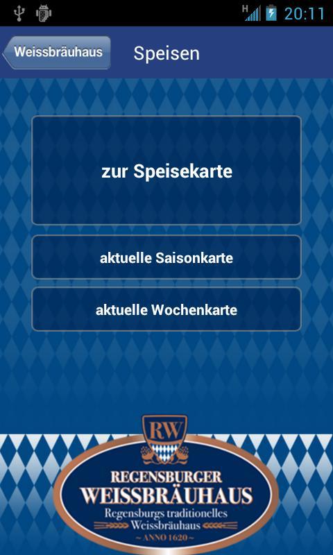 Regensburger Weissbräuhaus- screenshot