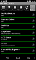 Screenshot of Call Control for BroadWorks