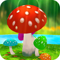 Mushrooms 3D Live Wallpaper icon