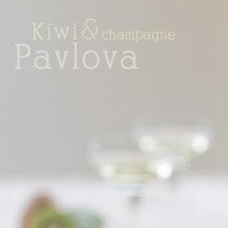 Kiwi & Champagne Pavlova