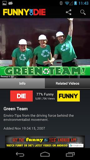 【免費媒體與影片App】Funny or Die-APP點子