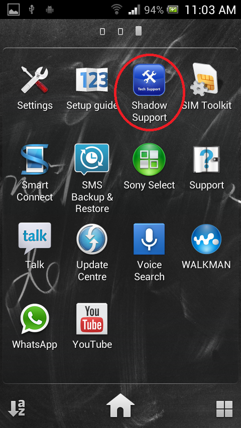 Shadow Support- screenshot