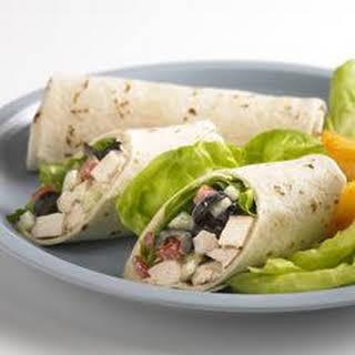 Greek Chicken Wrap.