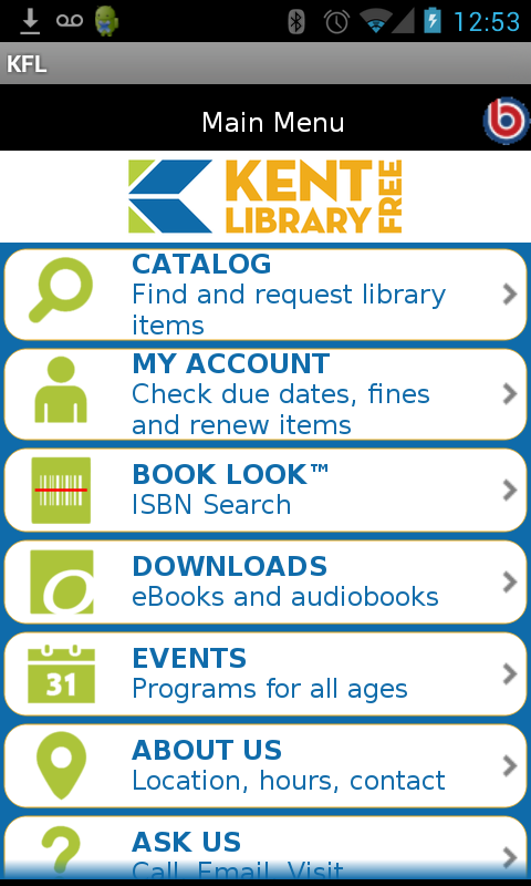 Kent Free Library- screenshot