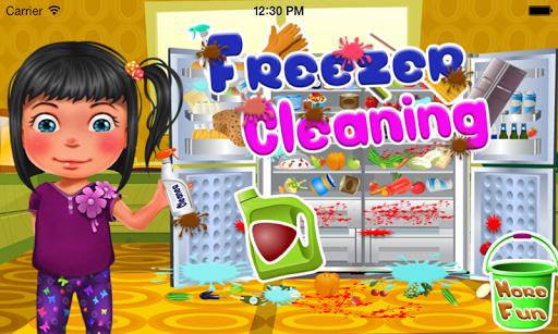 冰櫃清潔女孩遊戲