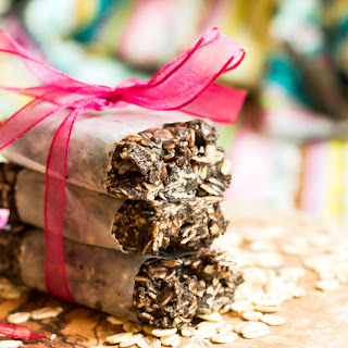 Raw CocoaNut Peanut Butter Bars