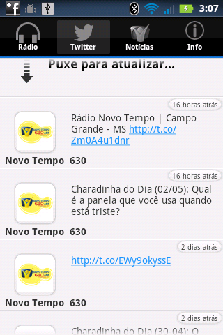 Rádio Novo Tempo 630 AM - screenshot