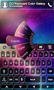 GO Keyboard Color Galaxy Theme
