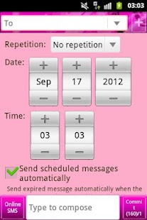 Pink Theme GO SMS- screenshot thumbnail