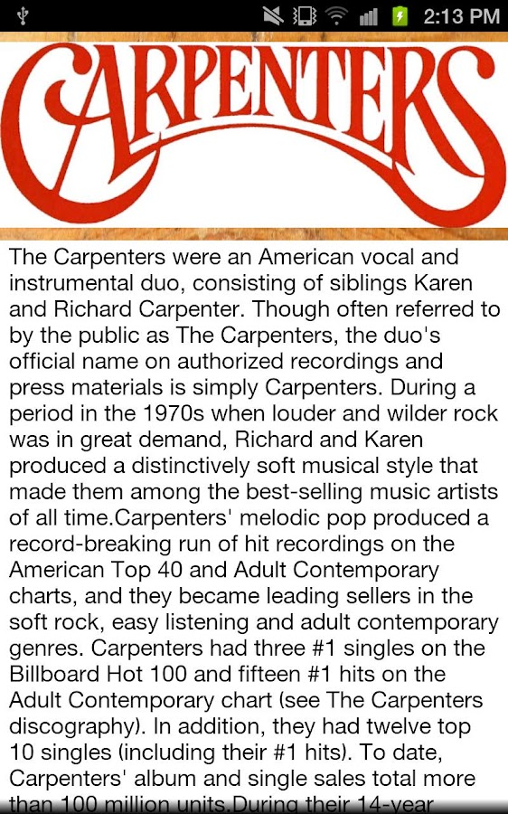 The Carpenters- screenshot