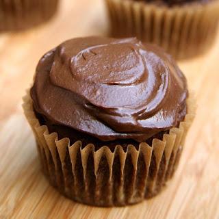 "Vegan Chocolate Cupcakes With Avocado ""Buttercream"" Frosting."