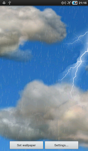 The real thunderstorm - LWP - screenshot thumbnail