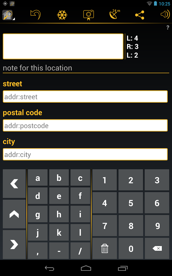 Keypad-Mapper - OpenStreetMap- screenshot