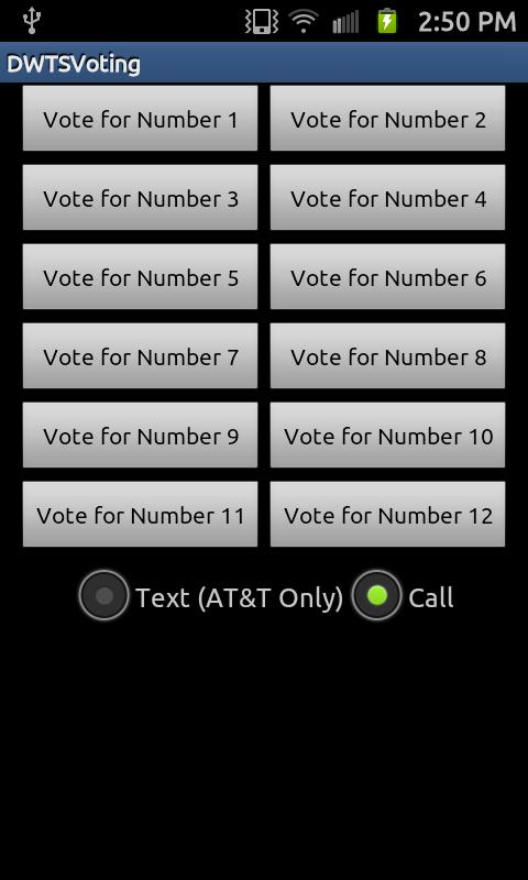 DWTS - Quick Vote - screenshot