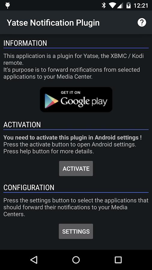 Yatse Notification Plugin- screenshot