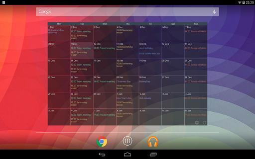 Touch Calendar Free  screenshots 9