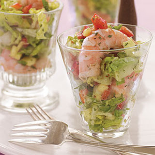 Sweet and Spicy Shrimp and Avocado Salad with Mango Vinaigrette.