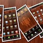 Mahogamy Wood GO Launcher EX icon