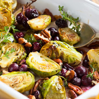 Cherry Roasted Brussels Sprouts.