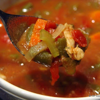 Simple Healthy Crockpot Italian Chicken Vegetable Soup