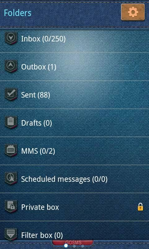 GO SMS Pro Cowboy Theme - screenshot