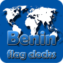 Benin flag clocks icon