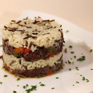 Wild Rice with Burgos Blood Sausage.