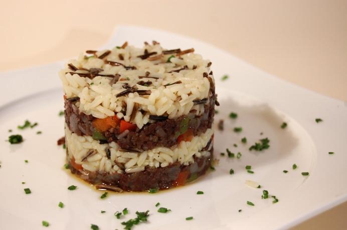 Wild Rice with Burgos Blood Sausage Recipe