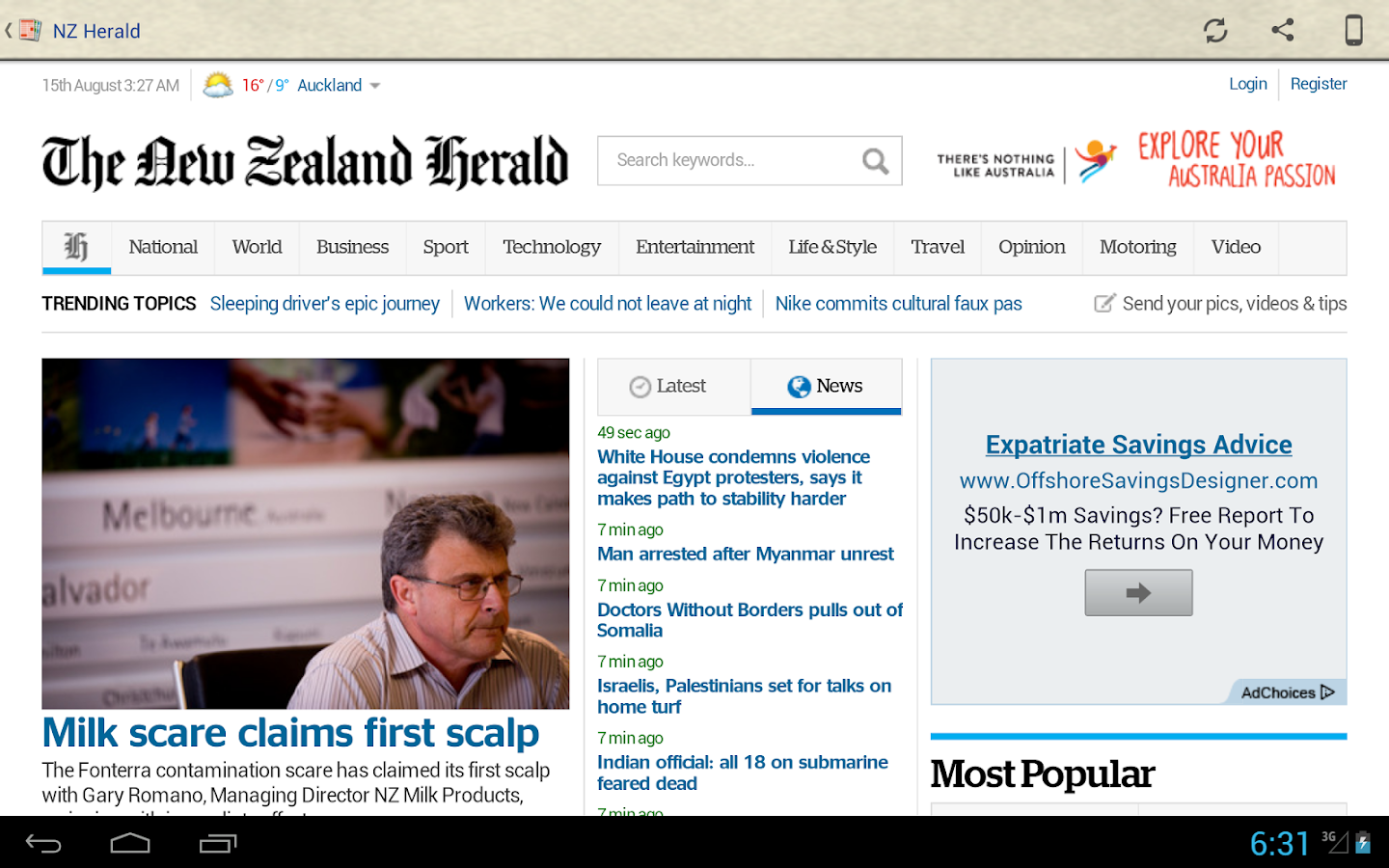 New Zealand Newspapers- screenshot