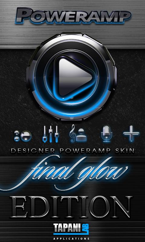 Poweramp skin Light Blue Glow APK Cracked Free Download
