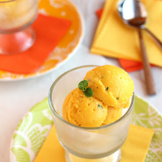 Mango Sorbet with Mint