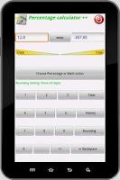 Screenshot of Percentage Calculator ++