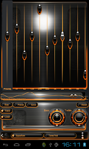 Poweramp skin Orange Magic v1.40