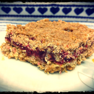 Almond Butter Strawberry Crumb Bars.