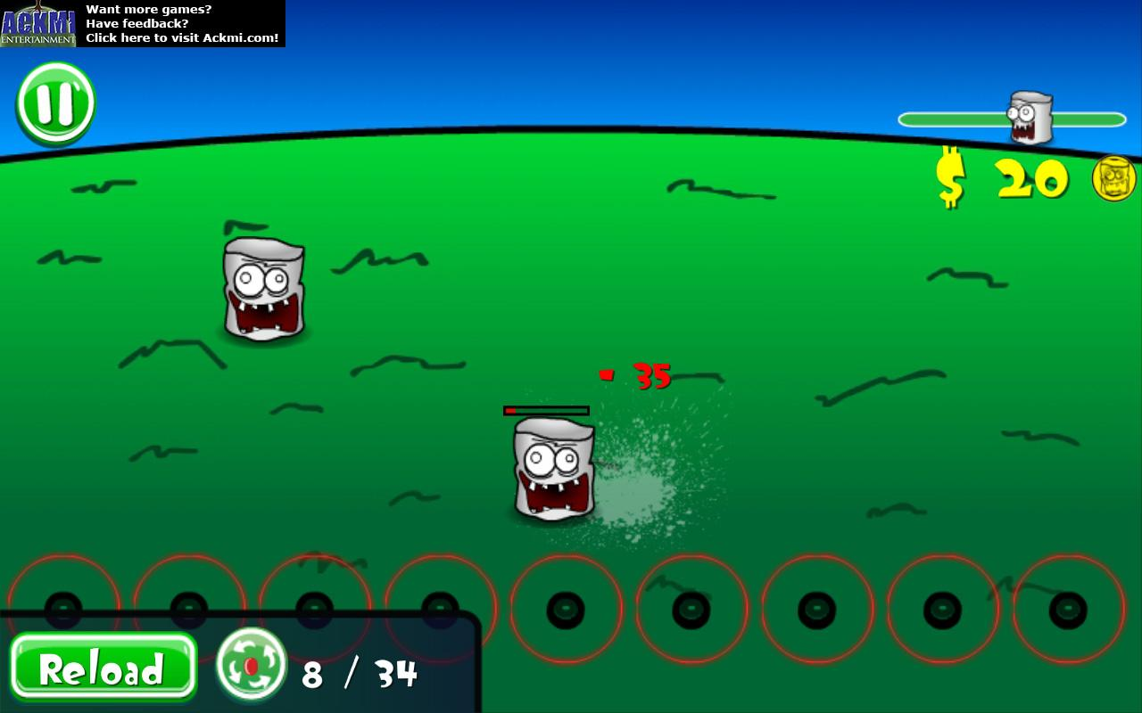 Zombie Marshmallow Defense - screenshot